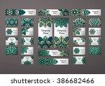big templates set. business... | Shutterstock .eps vector #386682466