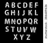 black and white alphabet...   Shutterstock .eps vector #386689636