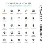 coffee  coffee shop line icon... | Shutterstock .eps vector #386694124