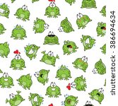 sweet seamless pattern with... | Shutterstock .eps vector #386694634