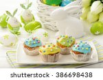 Easter Table   Muffins  Colore...