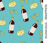seamless pattern with wine... | Shutterstock . vector #386699656