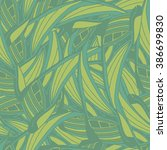 seamless pattern with green... | Shutterstock . vector #386699830