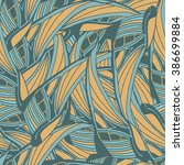 seamless pattern with blue and... | Shutterstock . vector #386699884