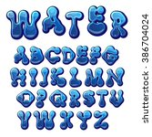 Cartoon Water Drops Font  Funn...