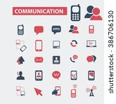 communication icons  | Shutterstock .eps vector #386706130