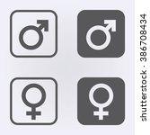 Male And Female Symbol Set ....