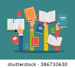 vector set of people hands... | Shutterstock .eps vector #386710630