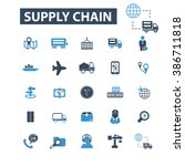 supply chain icons  | Shutterstock .eps vector #386711818