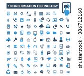 information technology icons  | Shutterstock .eps vector #386712160