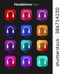 headphone icons ui app set for...