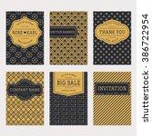set of trendy minimalistic... | Shutterstock .eps vector #386722954