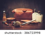 gentleman's accessories on a... | Shutterstock . vector #386723998