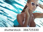 blonde sexy woman with perfect... | Shutterstock . vector #386725330