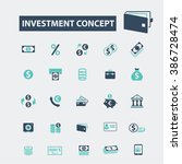 investment icons | Shutterstock .eps vector #386728474