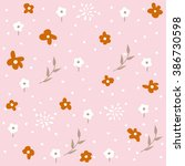 pattern seamless with flowers | Shutterstock .eps vector #386730598