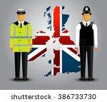 british vector policeman  | Shutterstock .eps vector #386733730