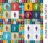 assembly of people silhouettes...   Shutterstock .eps vector #386735710