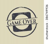 game over grunge style stamp | Shutterstock .eps vector #386749936