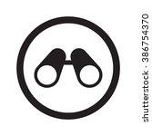 flat black binoculars web icon... | Shutterstock .eps vector #386754370