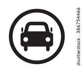 flat black car web icon in... | Shutterstock .eps vector #386754466