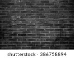 Black Grunge Brick Wall Textur...