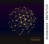 Vector Abstract Gold Geometric...