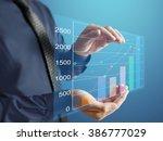 businessman with financial... | Shutterstock . vector #386777029