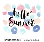 vector summer background with... | Shutterstock .eps vector #386786218