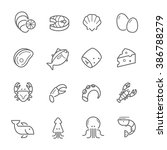 lines icon set   raw food... | Shutterstock .eps vector #386788279