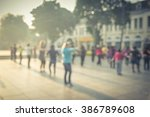 blur background group of people ...   Shutterstock . vector #386789608