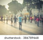 blur background group of people ... | Shutterstock . vector #386789668