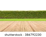 lawn and wooden floor with... | Shutterstock . vector #386792230