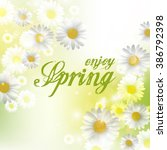 spring beautiful background... | Shutterstock . vector #386792398