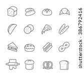 lines icon set   bread and... | Shutterstock .eps vector #386792416
