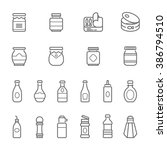 lines icon set   ketchup | Shutterstock .eps vector #386794510