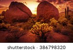 Dramatic Desert Scenery Near...