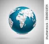 vector polygonal globe icon of... | Shutterstock .eps vector #386801854