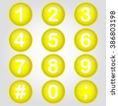 icon yellow buttton number...