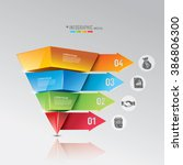 modern business steps to success | Shutterstock .eps vector #386806300
