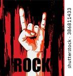 rock poster  | Shutterstock .eps vector #386811433