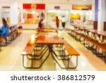 Stock photo blur image of restaurant or cafeteria delicious clean food in the education university of thailand 386812579