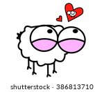 love sheep | Shutterstock .eps vector #386813710