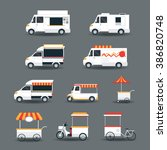 street food vehicles  truck ... | Shutterstock .eps vector #386820748