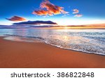 beautiful sunrise over the... | Shutterstock . vector #386822848