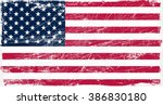 american flag with grunge... | Shutterstock .eps vector #386830180
