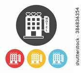 hotel icon | Shutterstock .eps vector #386836354