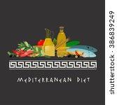 mediterranean diet image | Shutterstock .eps vector #386839249