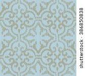 moroccan pattern seamless... | Shutterstock .eps vector #386850838