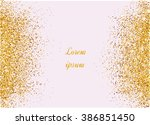 abstract gold background. gold... | Shutterstock .eps vector #386851450